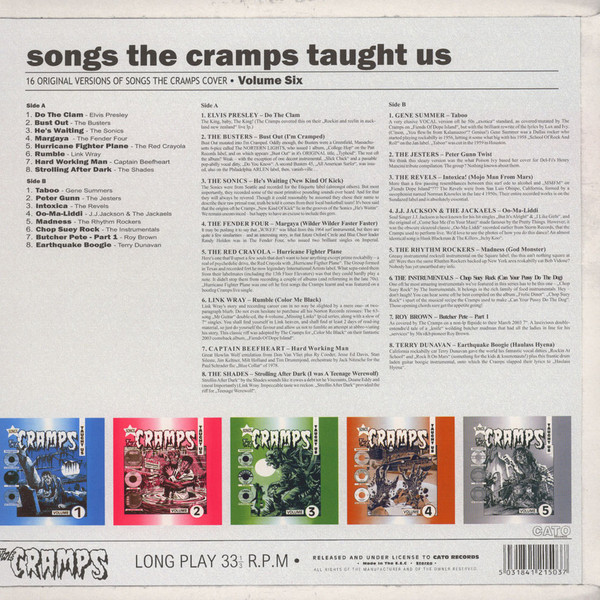 Songs The Cramps Taught Us Volume 6