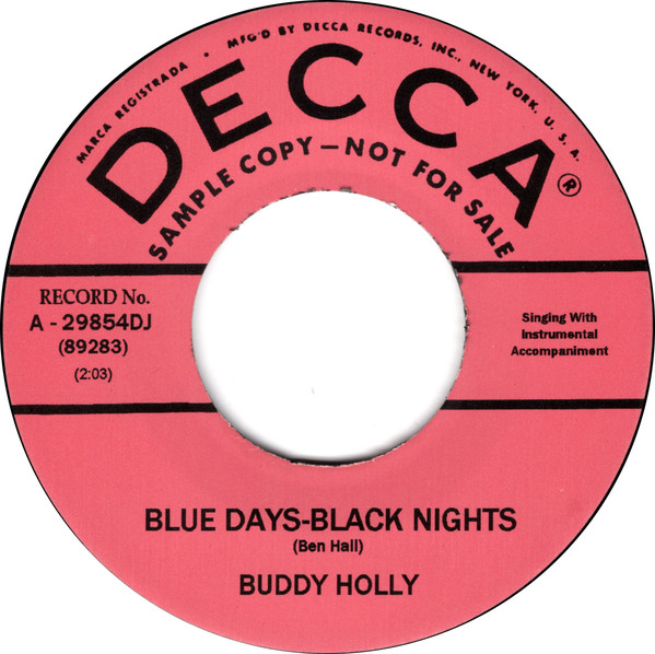Blue Days-Black Nights/ Changing All Those Changes